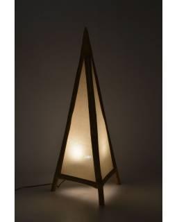 Stojací lampa/stínidlo z bambusu a látky, 50x50x117cm