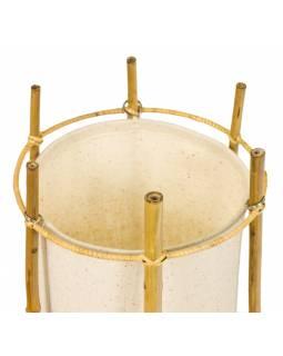 Stojací lampa/stínidlo z bambusu a látky, 19x19x50cm