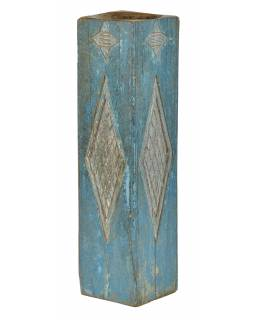 Dřevěný svícen ze starého teakového sloupu, 17x17x63cm