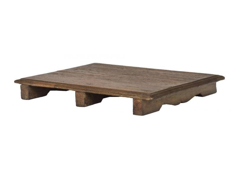 Čajový stolek z teakového dřeva, 53x41x6cm