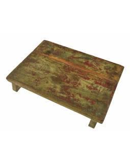 Čajový stolek z teakového dřeva, 50x35x9cm