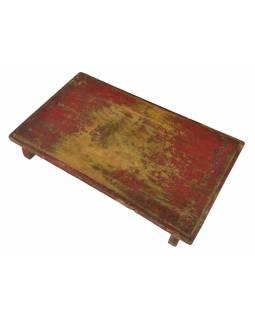 Čajový stolek z teakového dřeva, 56x29x7cm