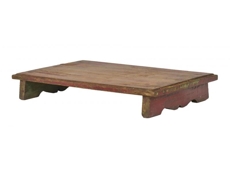 Čajový stolek z teakového dřeva, 51x33x8cm