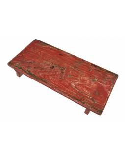 Čajový stolek z teakového dřeva, 58x27x8cm