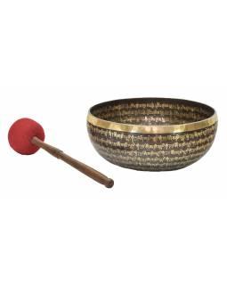 """Tibetská mísa, """"Gulpa"""", gravírovaná s designem, průměr 29cm"""