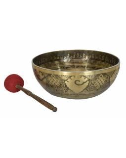 """Tibetská mísa, """"Gulpa"""", gravírovaná s designem, průměr 39cm"""
