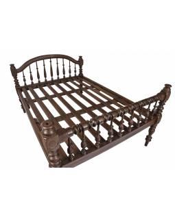 Starožitná postel z teakového dřeva, 218x158x126cm