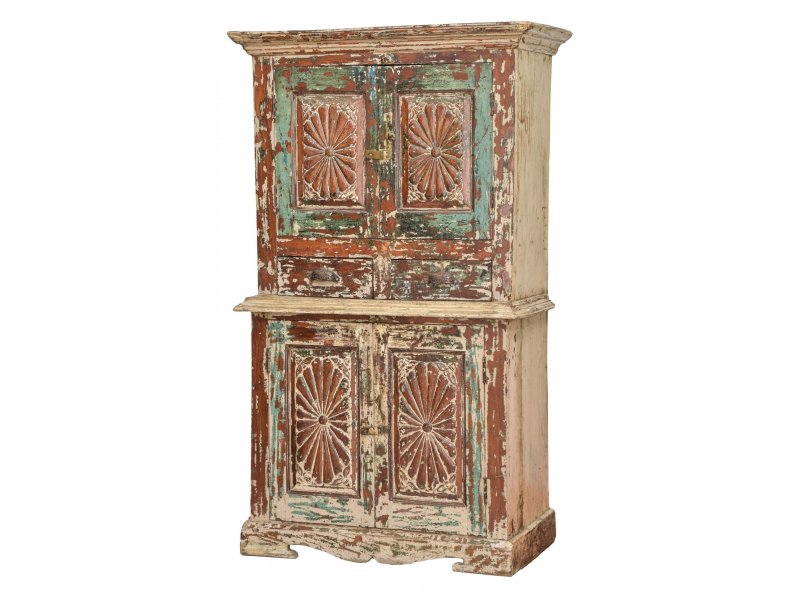 Starožitná skříň z teakového dřeva, 97x48x166cm