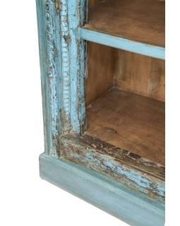 Knihovna z teakového dřeva, staré řezby, 100x50x180cm