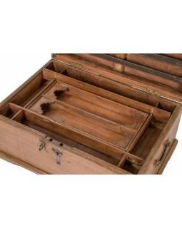 Truhlička z teakového dřeva, šperkovnice, 53x36x27cm