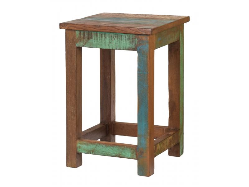 "Stolička v ""Goa"" stylu, starý teak, 30x30x45cm"