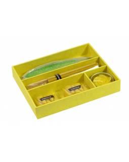 Dárkový set žlutý Jasmine, 16x13x3cm