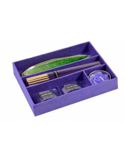 Dárkový set fialový Lavender, 16x13x3cm