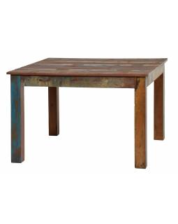 """Jídelní stůl a 4 židle v """"Goa"""" stylu, teak, recyklované dřevo, 120x120x78cm"""