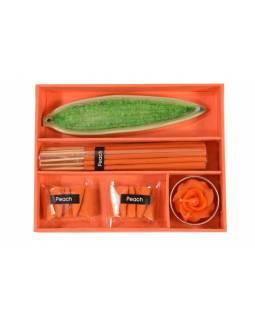 Dárkový set oranžový Peach, 16x13x3cm