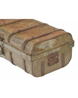 Plechový kufr, příruční zavazadlo, 62x34x24cm