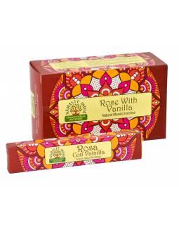 Vonné tyčinky, Rose whit Vanilla, Namaste India, 23cm, 15g (Orkay)