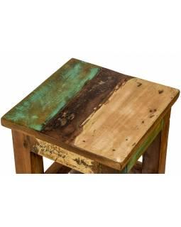 """Stolička z antik teakového dřeva, """"GOA"""" styl, 25x25x30cm"""
