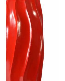 Červená váza z palmového dřeva, výška 62cm