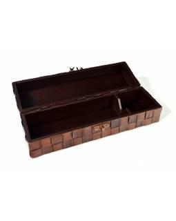 Ratanová krabice na víno, tmavá, 35x10x10cm