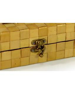Ratanová krabice na víno, světlá, 35x10x10cm
