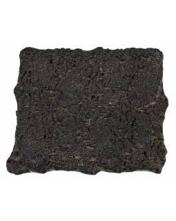Staré razítko na textil vyřezané z mangového dřeva, květinový motiv, 18x16x7cm