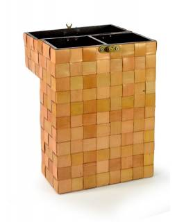 Ratanová krabice na 2 lahve vína, světlá, 20x10x36cm