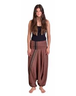 Turecké volné kalhoty/overal/halenka 3 v 1, růžovo-béžové s drobným potiskem