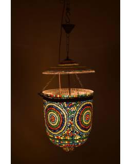 Lampa v orientálním stylu, skleněná mozaika, ruční práce, 30x30x35cm