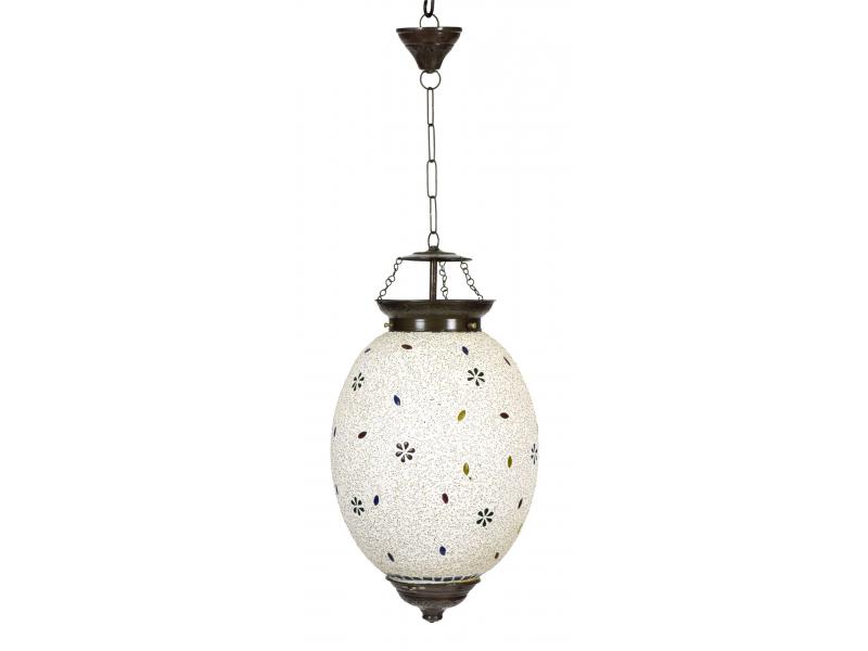 Lampa v orientálním stylu, skleněná mozaika, ruční práce, 25x25x40cm