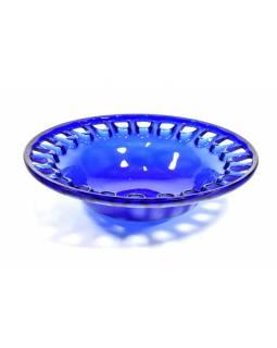 Mísa,  modrá, sklo