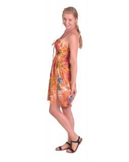 Dlouhá sukně/ šaty krátké, žabička v pase, oranžové