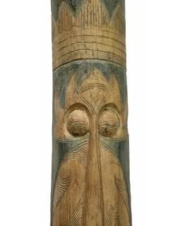 Domorodá maska z balzového dřeva, zelená patina, 200cm