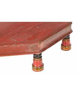Čajový osmiboký stolek z teakového dřeva, 68x68x16cm