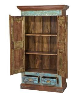 Starožitná skříň z teakového dřeva, 105x50x180cm