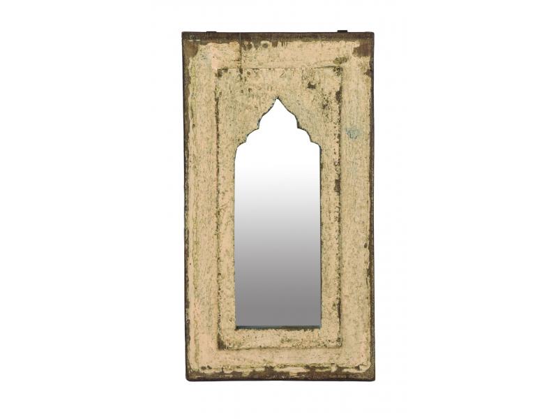 Zrcadlo v rámu z teakového dřeva, 27x3x49cm