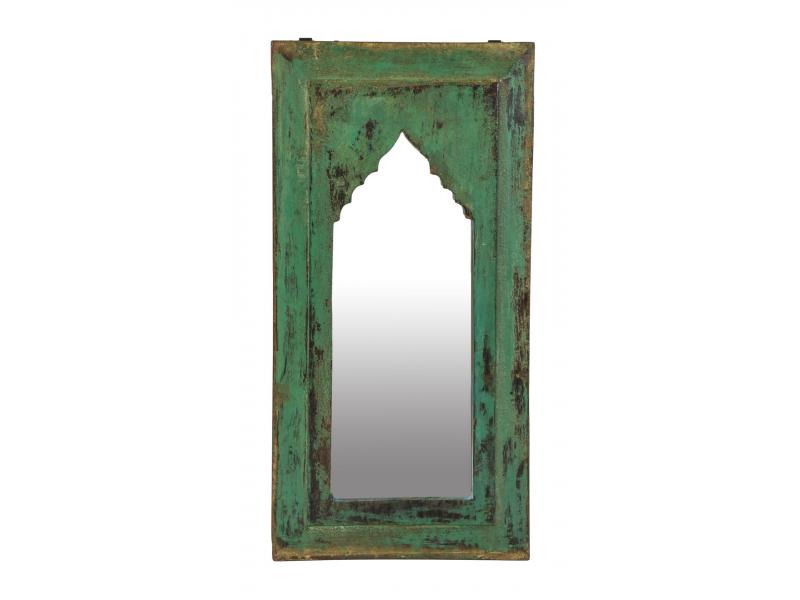 Zrcadlo v rámu z teakového dřeva, 30x3x58cm