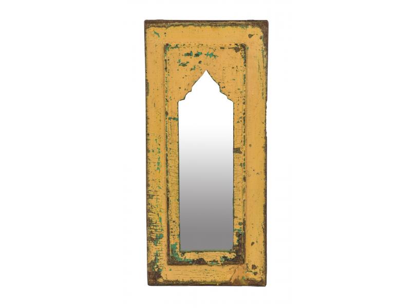 Zrcadlo v rámu z teakového dřeva, 26x3x56cm
