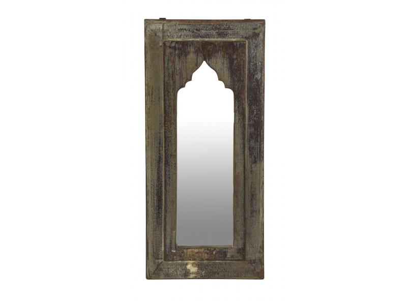 Zrcadlo v rámu z teakového dřeva, 27x3x59cm
