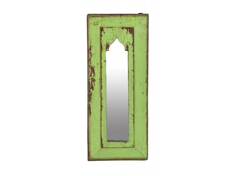 Zrcadlo v rámu z teakového dřeva, 20x3x48cm