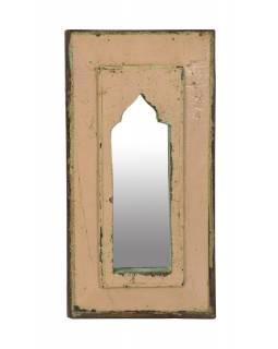 Zrcadlo v rámu z teakového dřeva, 22x3x43cm
