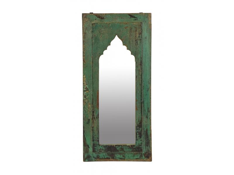 Zrcadlo v rámu z teakového dřeva, 29x3x61cm