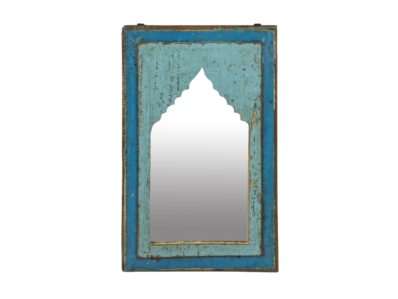 Zrcadlo v rámu z teakového dřeva, 35x3x55cm