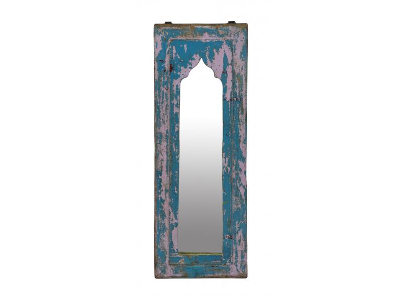 Zrcadlo v rámu z teakového dřeva, 21x3x57cm