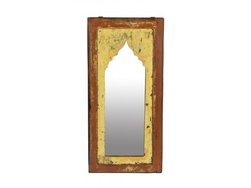 Zrcadlo v rámu z teakového dřeva, 25x3x53cm