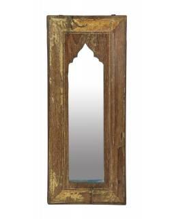 Zrcadlo v rámu z teakového dřeva, 27x3x63cm