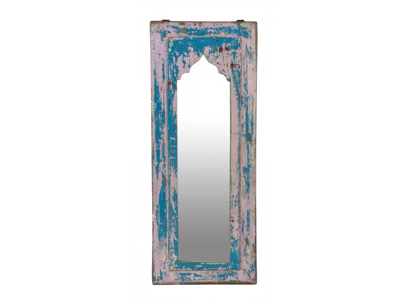 Zrcadlo v rámu z teakového dřeva, 21x3x28cm