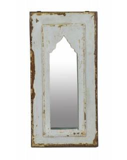 Zrcadlo v rámu z teakového dřeva, 26x3x52cm