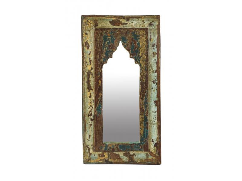 Zrcadlo v rámu z teakového dřeva, 25x3x46cm