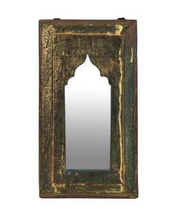 Zrcadlo v rámu z teakového dřeva, 21x3x39cm